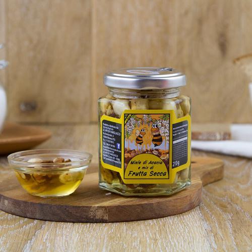 Miele di acacia e mix di frutta secca