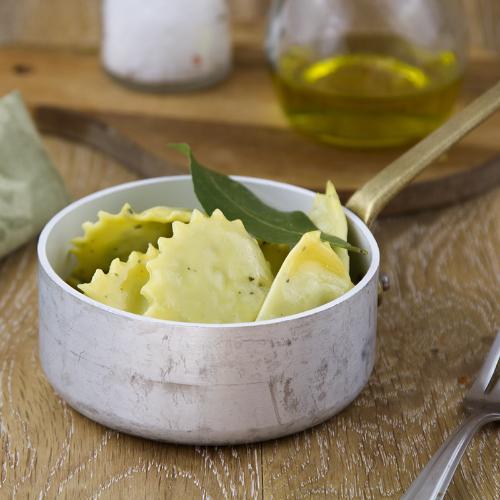 Ravioli vegani topinambur e zenzero