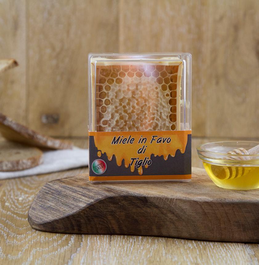 Miele di tiglio in favo