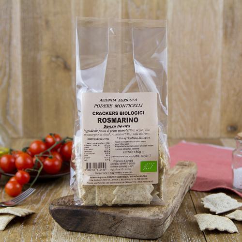 Crackers grano tenero e rosmarino BIO