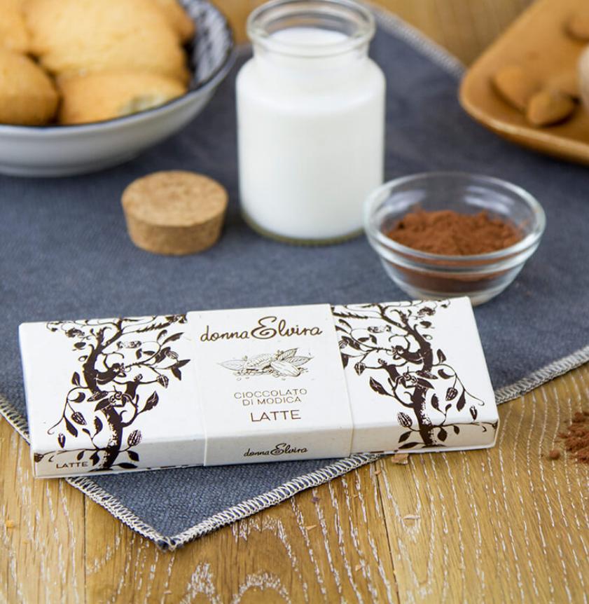 Cioccolato di Modica con latte ovino