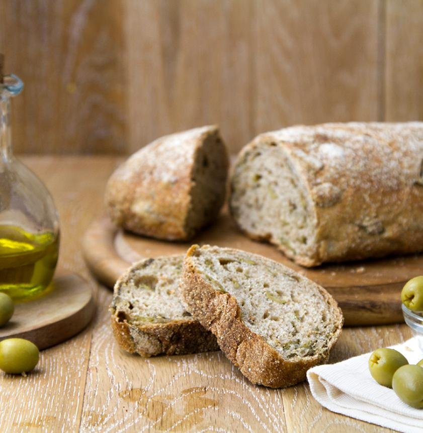 Pane lievito madre alle olive