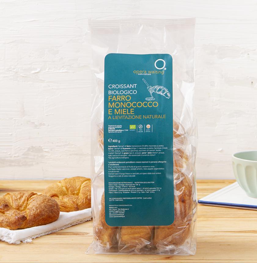5 Croissant al farro monococco e miele BIO