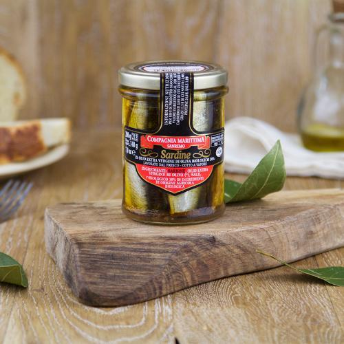 Sardine intere in olio extravergine BIO