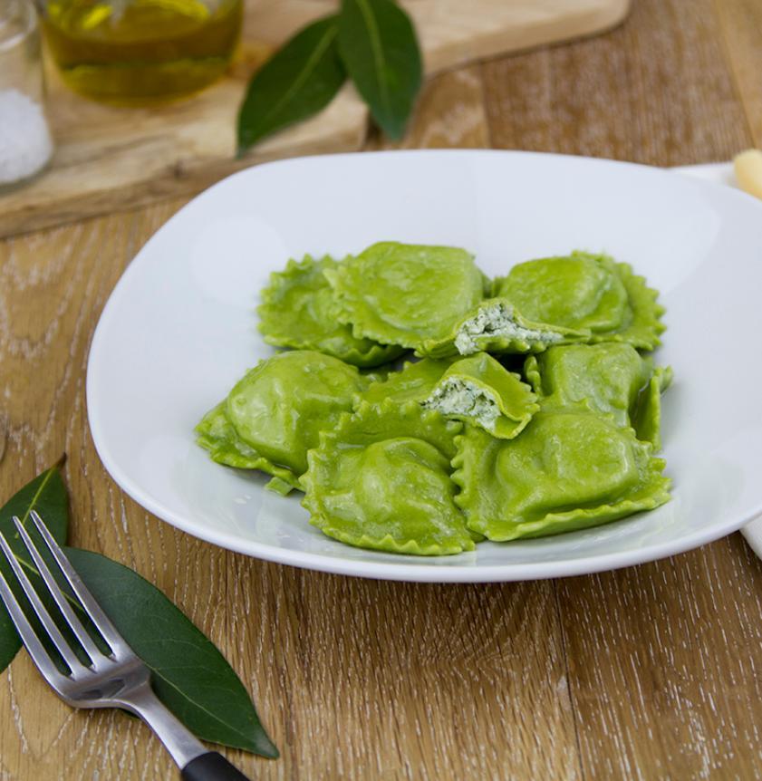 Ravioli verdi di magro