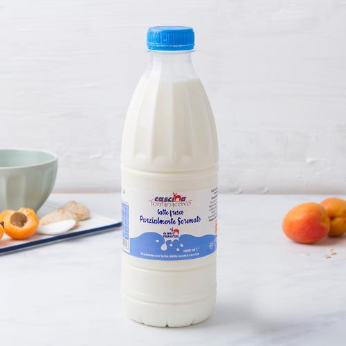Latte fresco parzialmente scremato Piemontese