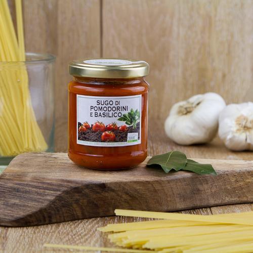 Sugo di pomodorini e basilico