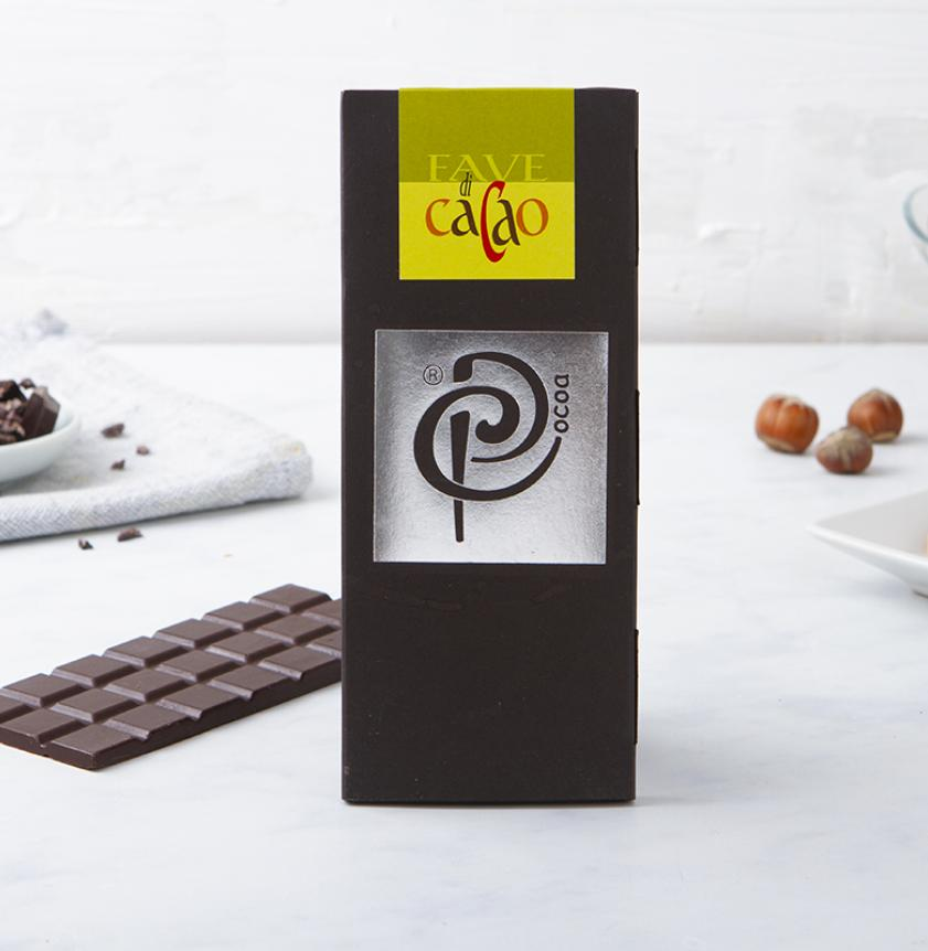 Cioccolato fondente 70% con granella di cacao
