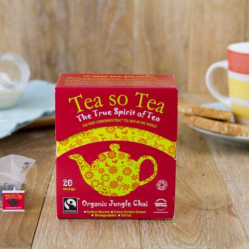 Tè nero aromatizzato in bustine BIO