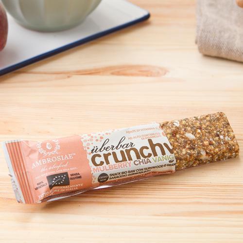 Überbar Crunchy Mulberry Chia Vaniglia BIO