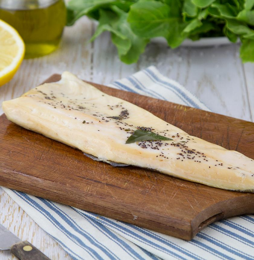 Filetto di trota marinata