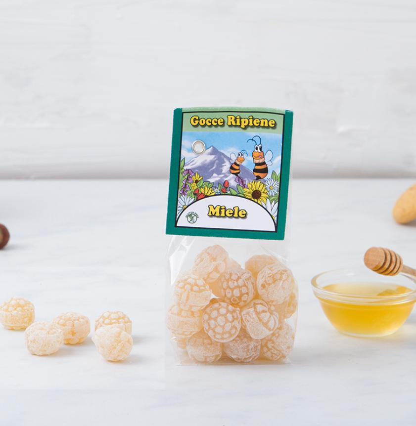 Caramelle ripiene di miele