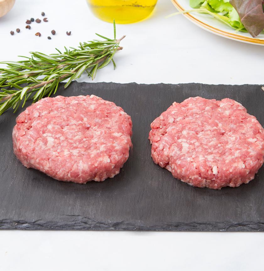 Hamburger di filiera di bovino e suino