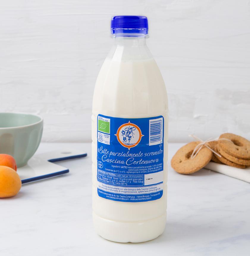 Latte fresco parzialmente scremato BIO