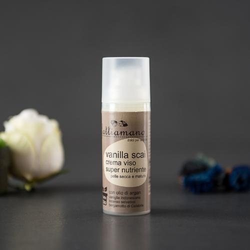 Crema viso idratante alla vaniglia