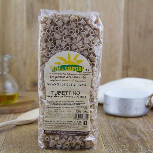 Tubettini integrali di grano di filiera