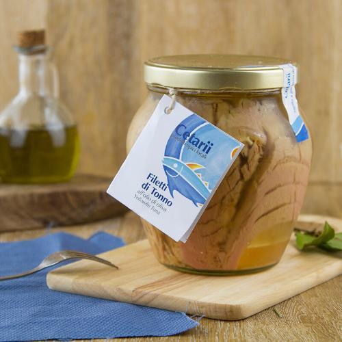 Filetto di tonno in olio di oliva in vetro
