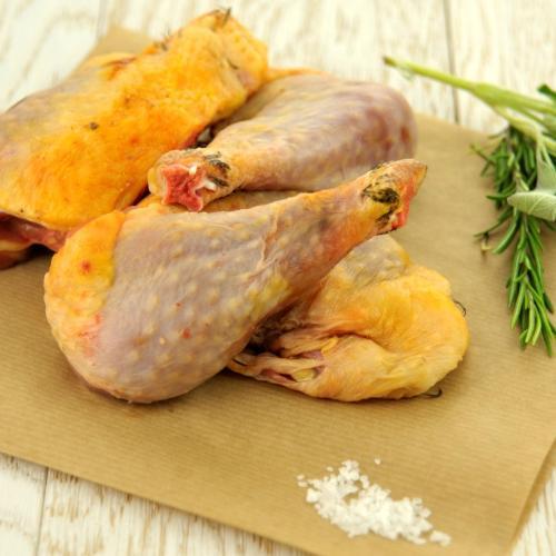 Pollo ruspante in parti