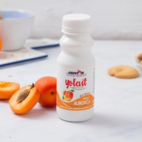 Yogurt da bere all'albicocca