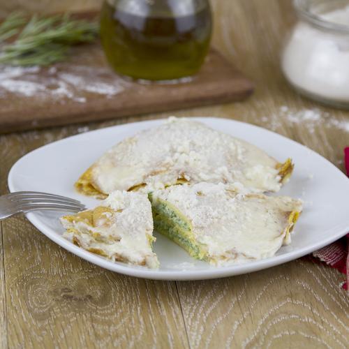 Crepes di grano saraceno e prosciutto