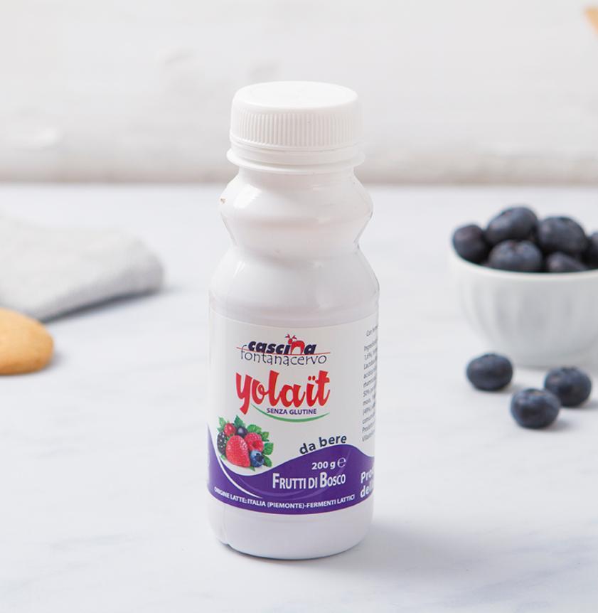 Yogurt da bere ai frutti di bosco
