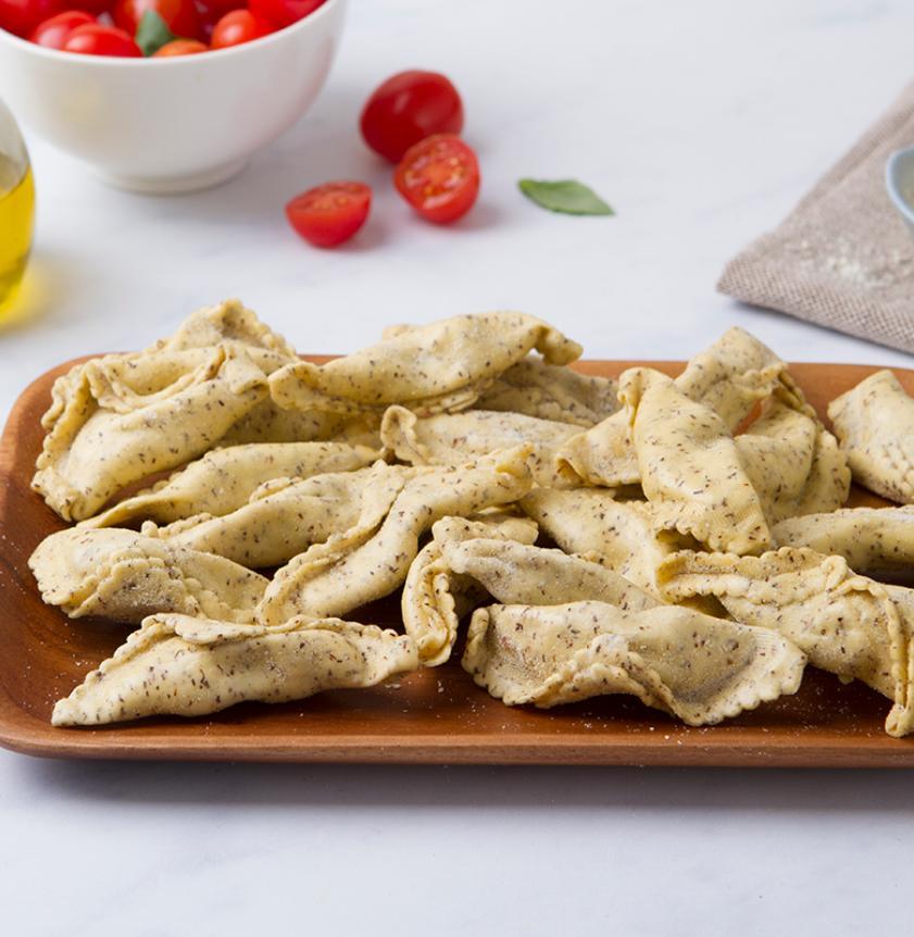Ravioli di grano saraceno e bresaola