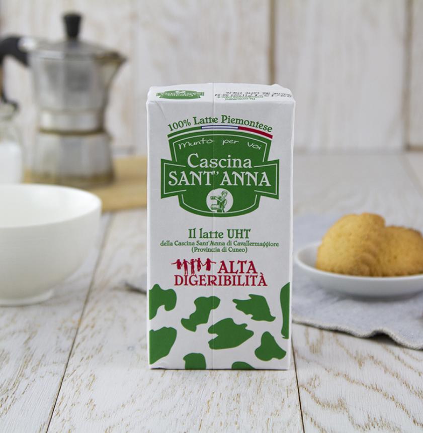 Latte alta digeribilità parzialmente scremato UHT 500 ml