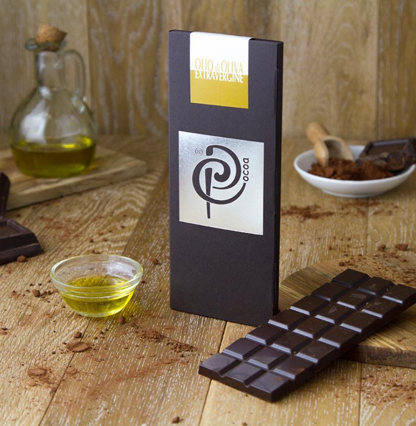 Cioccolato fondente con olio extravergine d'oliva