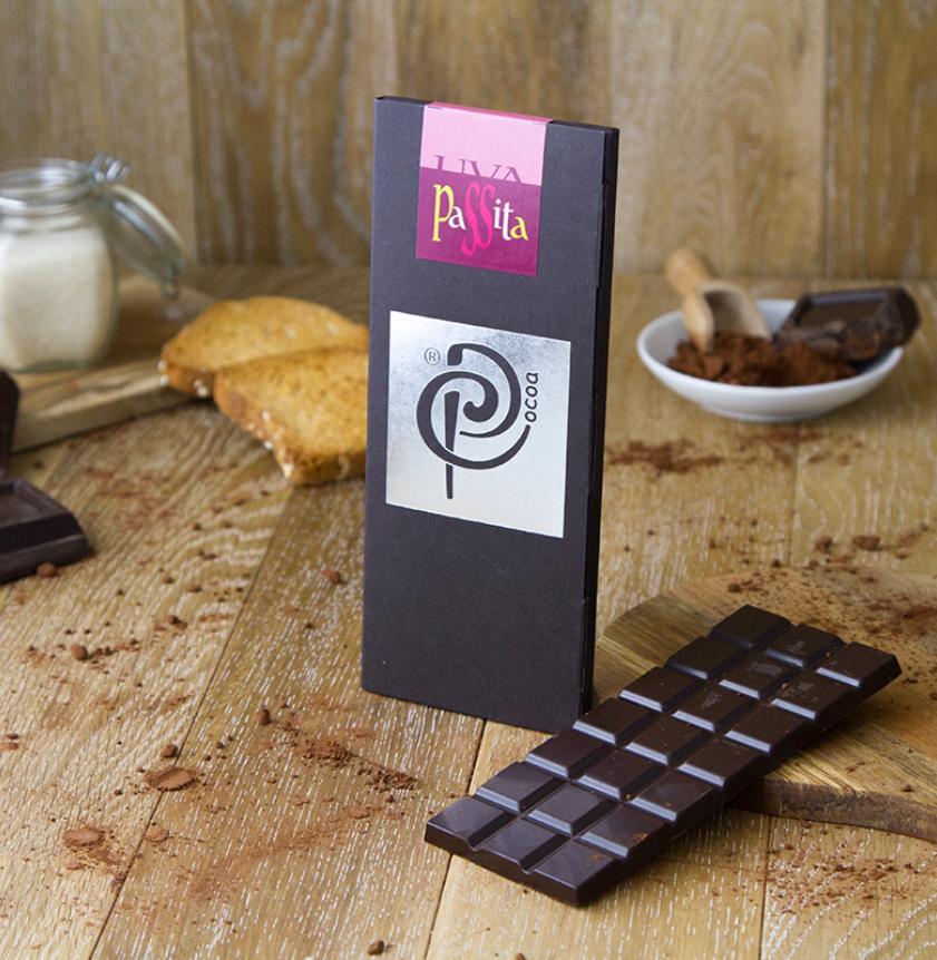 Cioccolato fondente con uva passita