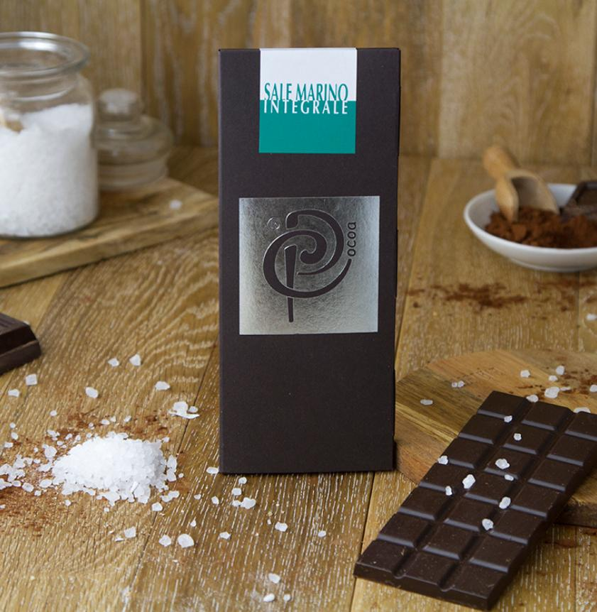 Cioccolato fondente con sale integrale