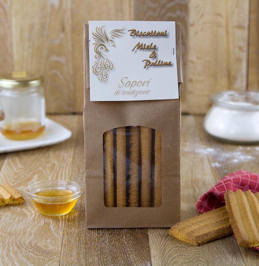 Biscottoni al miele e polline