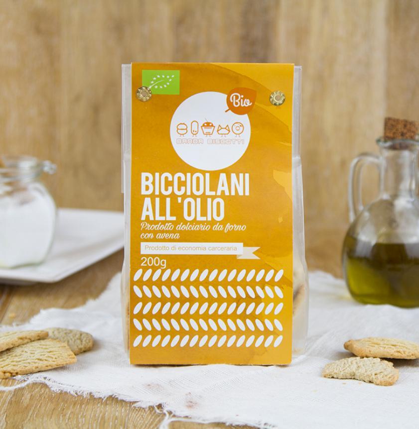 Biscotti all'olio con farina di avena BIO